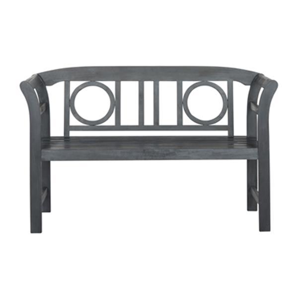 Safavieh Moorpark 31.1-in x 49.2-in Ash Grey 2-Seat Bench