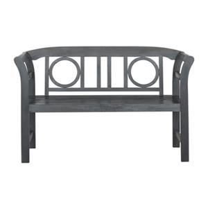 Safavieh Moorpark 31.1-in x 49.2-in Ash Grey 2-Seat Bench