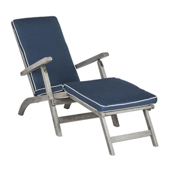 Safavieh Palmdale 36.10-in x 21.90-in Navy Lounge Chair