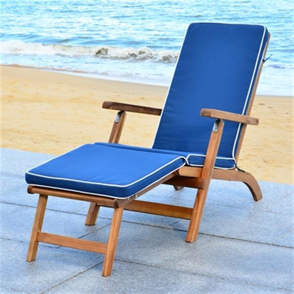 Safavieh Palmdale 36-in x 22-in Navy Lounge Chair