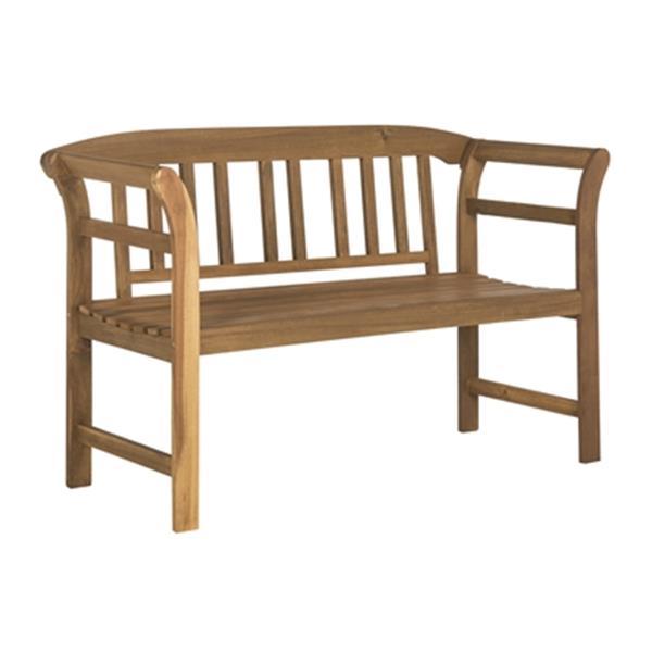 Safavieh Porterville 31.1-in x 49.2-in Brown 2-Seat Bench