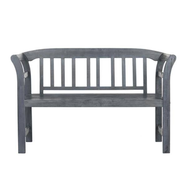 Safavieh Porterville 31.1-in x 49.2-in Ash Grey 2-Seat Bench