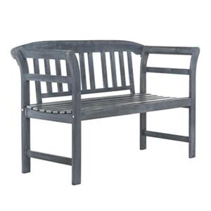 Safavieh Porterville 31.1-in x 49.2-in Ash Grey 2-Seat Bench