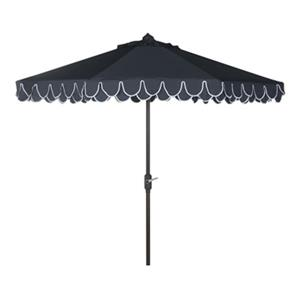 Safavieh Elegant 9-ft Navey Drape Auto Tilt Patio Umbrella with