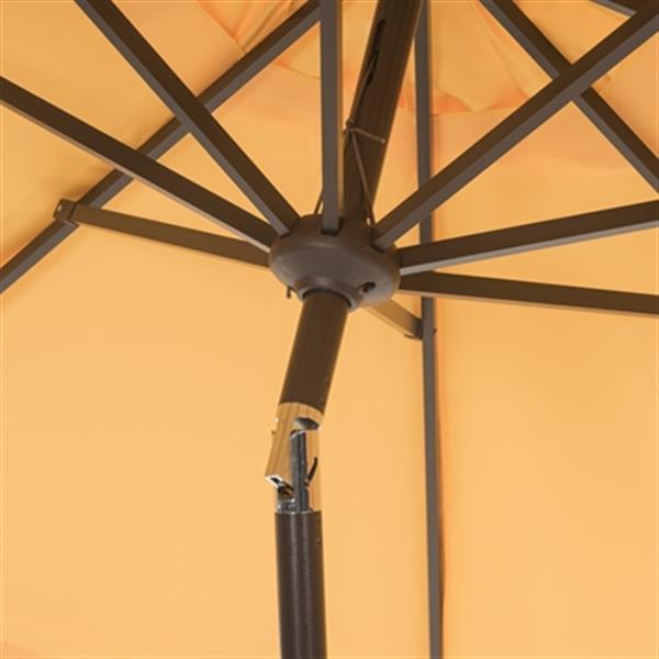 Safavieh Elegant 9-ft Yellow Drape Auto Tilt Patio Umbrella