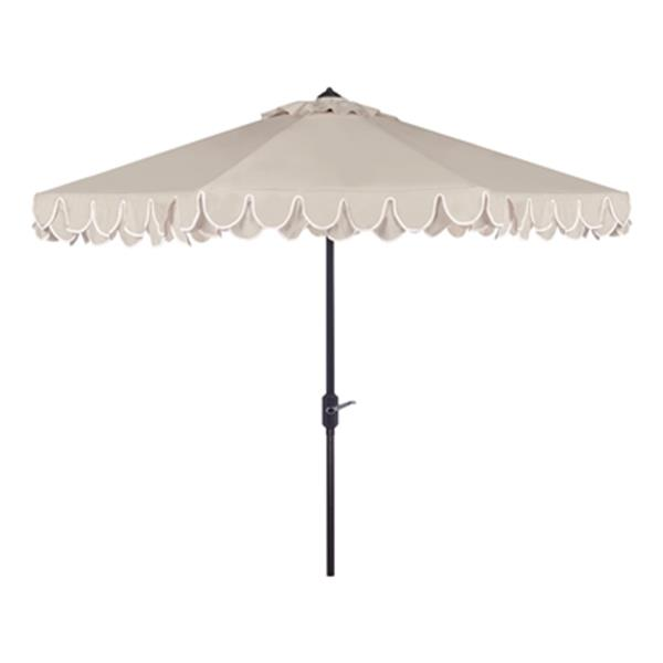 Safavieh Elegant 9-ft Beige Drape Auto Tilt Patio Umbrella