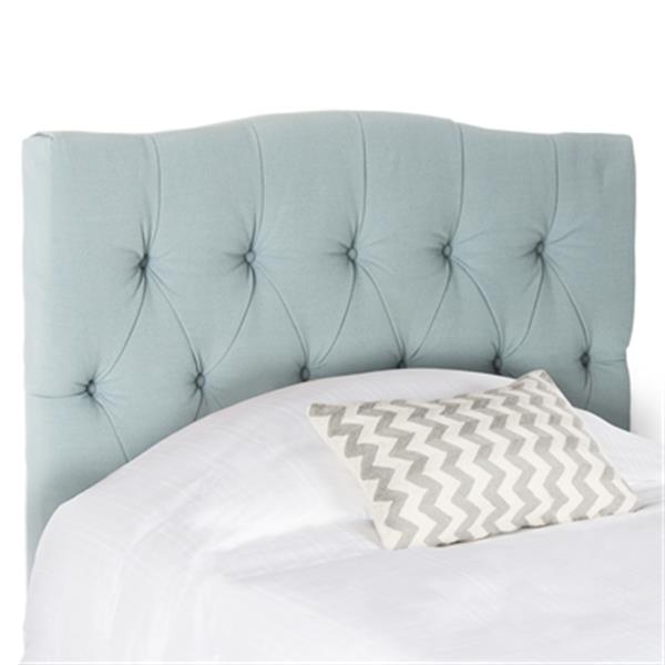 Safavieh Axel 53.90-in x  42.10-in Sky Blue Tufted Headboard