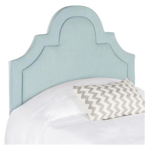 Safavieh Kerstin 53.10-in x 41.70-in Sky Blue Arched Headboard