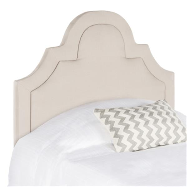 Safavieh Kerstin 53.10-in x 41.70-in Taupe Arched Headboard