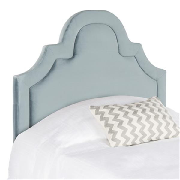 Safavieh Kerstin 53.10-in x 41.70-in Wedgewood Blue Arched Headboard