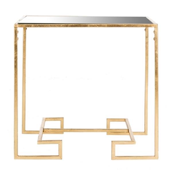 Safavieh Seamus 24-in Gold Leaf Greek Key Accent Table