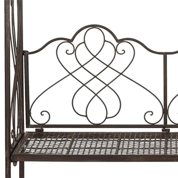 Safavieh 94-in x 42.50-in Rustic Brown Bench Seat Eloise Arbor Arch