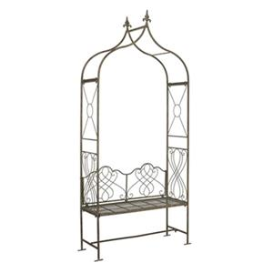 Safavieh 94-in x 42.50-in Rustic Blue Bench Seat Eloise Arbor Arch