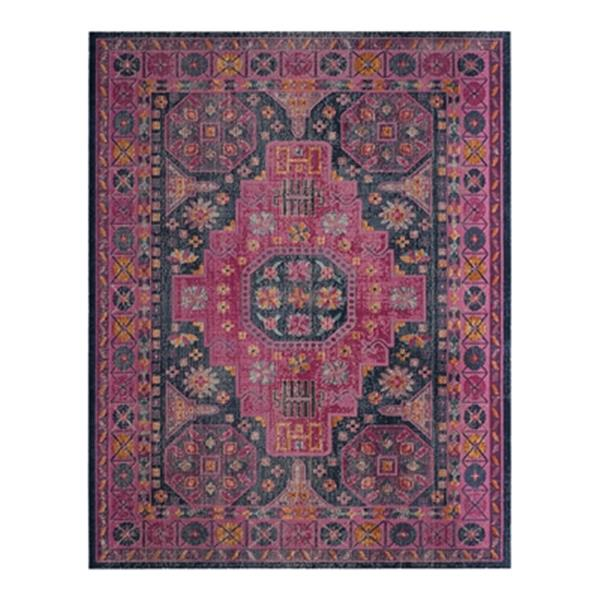 Safavieh Artisan 7-ft x 9-ft Blue and Fuchsia Area Rug