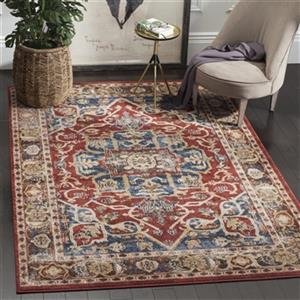 Safavieh Bijar 7-ft x 9-ft Red and Royal Area Rug