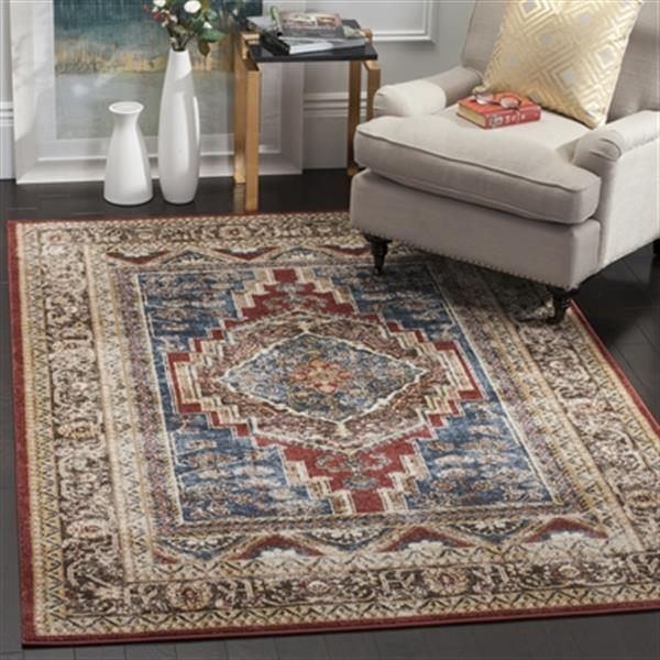 Safavieh Bijar 6-ft x 9-ft Royal and Brown Area Rug