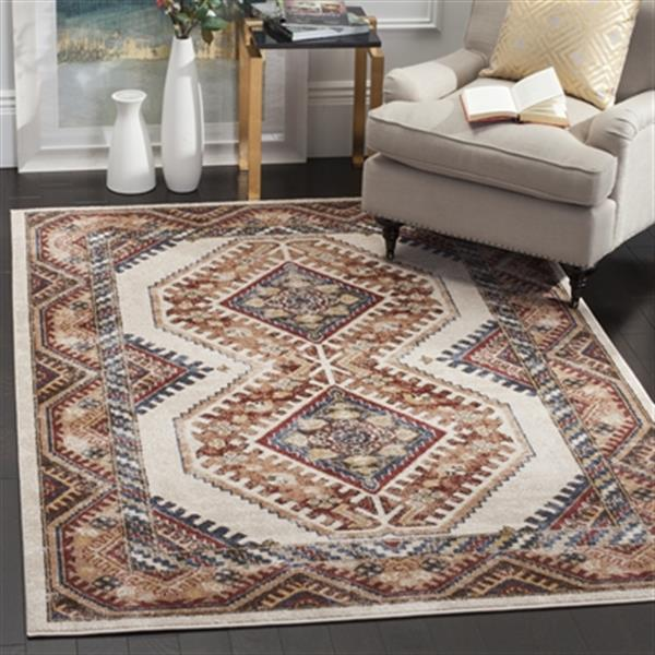 Safavieh Bijar 6-ft x 9-ft Ivory and Rust Area Rug