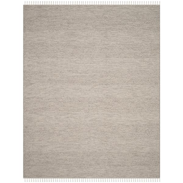 Safavieh Montauk 8-ft x 10-ft Flat Weave Ivory and Steel Grey Area Rug