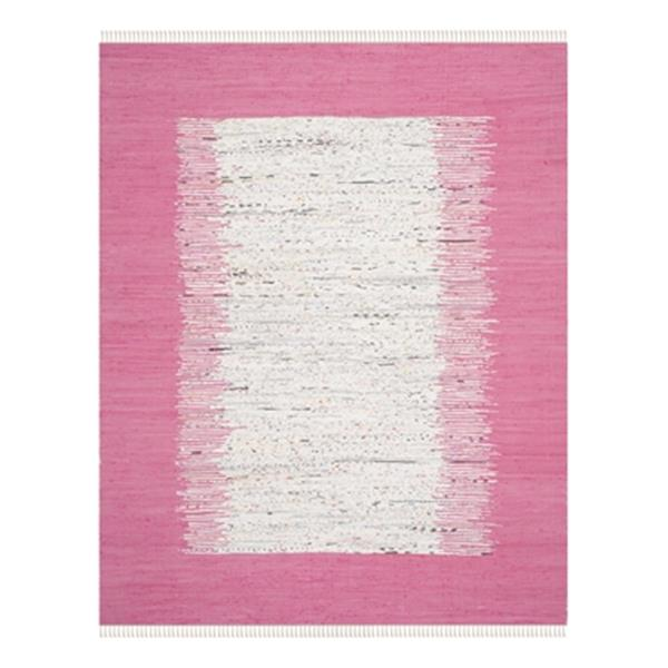 Safavieh Montauk 8-ft x 10-ft Flat Weave Ivory and Pink Area Rug