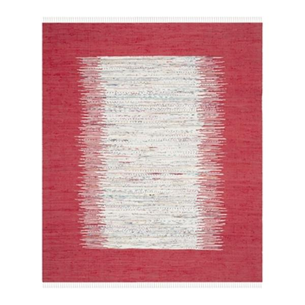 Safavieh Montauk 8-ft x 10-ft Flat Weave Ivory and Red Area Rug