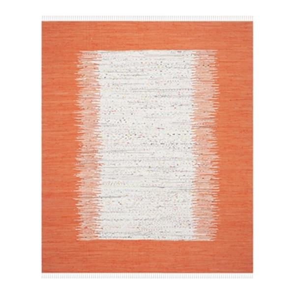 Safavieh Montauk 8-ft x 10-ft Flat Weave Ivory and Orange Area Rug