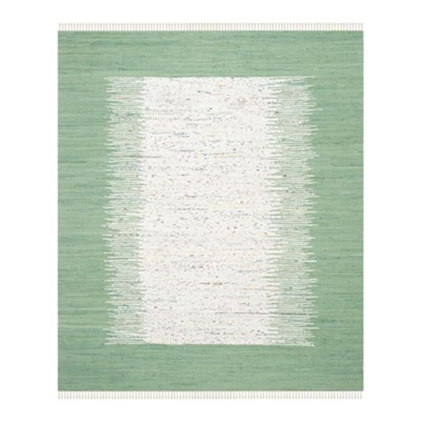 Safavieh Montauk 8-ft x 10-ft Flat Weave Ivory and Sea Green Area Rug