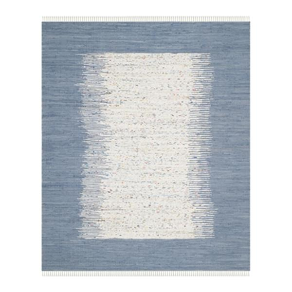 Safavieh Montauk 8-ft x 10-ft Flat Weave Ivory and Dark Blue Area Rug