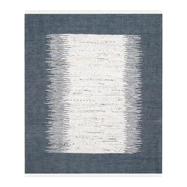 Safavieh Montauk 8-ft x 10-ft Flat Weave Ivory and Navy Area Rug