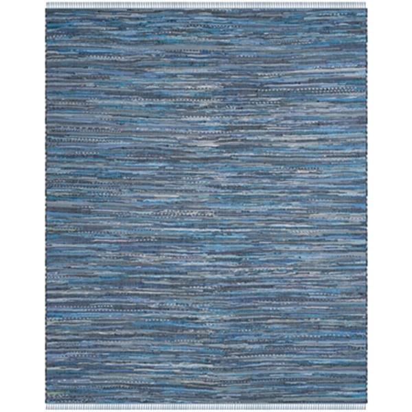 Safavieh Rag Rug 8-ft x 10-ft Cotton Blue Multicolour Indoor Area Rug