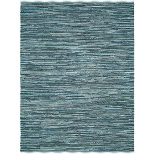 Safavieh Rag Rug 8-ft x10-ft Cotton Turquoise Multicolour Indoor Area Rug