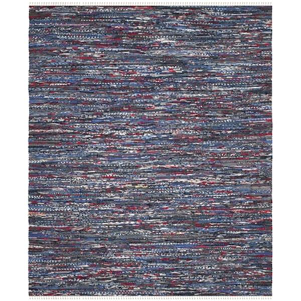 Safavieh Rag Rug 8-ft x 10-ft Cotton Blue Multicolour Indoor Area Rug