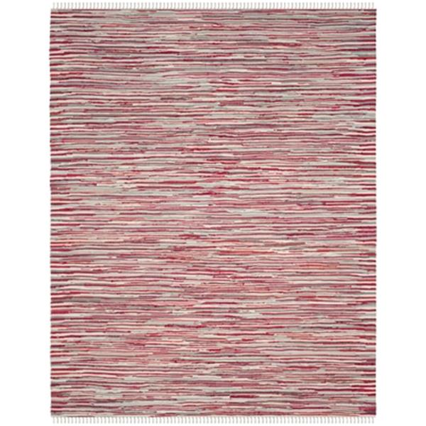 Safavieh Rag Rug 8-ft x 10-ft Red Multicolor Rectangular Striped Woven Area Rug