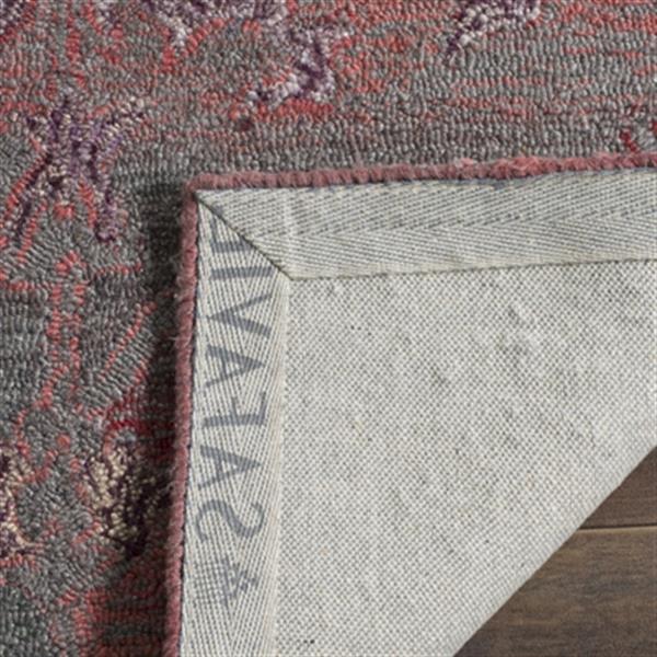 Safavieh Vintage Oushak 5-ft x 8-ft Red Rectangular Border Tufted Area Rug