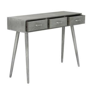 Safavieh Albus 3 Drawer Black Pine Slate Grey Rectangular Console Table