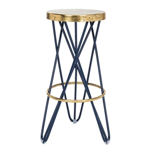 Safavieh Lorna 30-in Gold Leaf Barstool