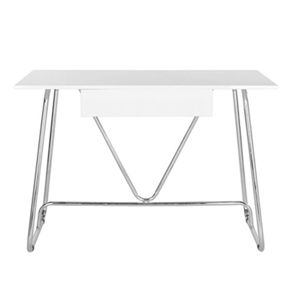 Safavieh Malloy White Chrome Writing Desk