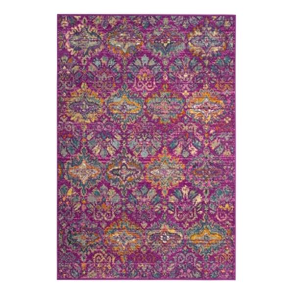 Safavieh Madison 8-ft x 10-ft Fuschsia and Blue Indoor Rectangular Trellis Woven Area Rug