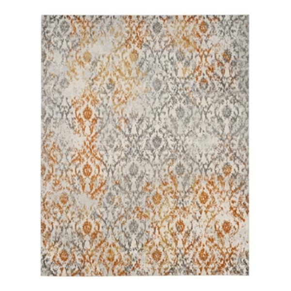 Safavieh Madison 8-ft x 10-ft Cream and Orange Indoor Rectangular Trellis Woven Area Rug