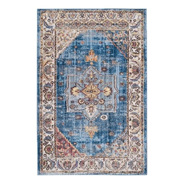 Safavieh Bristol Blue and Ivory Area Rug, 7-ft Square