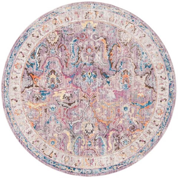 Safavieh Bristol 84-in x 84-in Lavender and Light Grey Area Rug