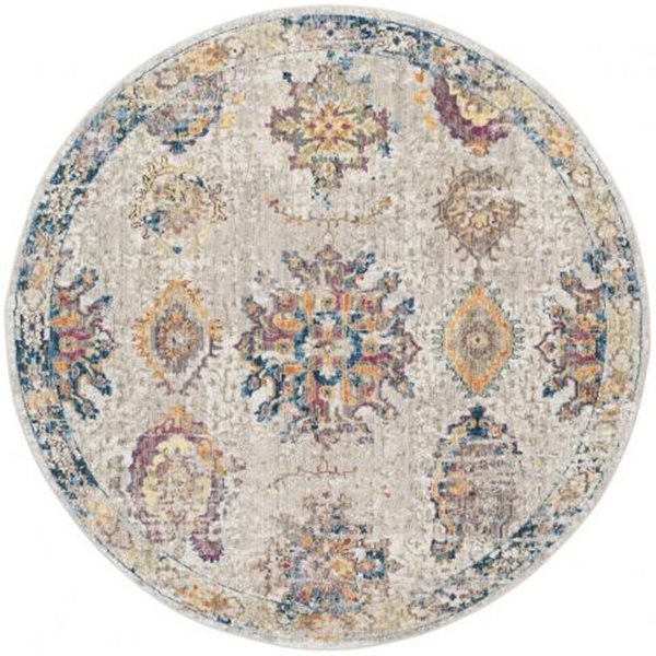 Safavieh Bristol 84-in x 84-in Light Grey and Blue Area Rug