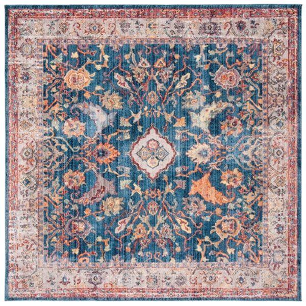 Safavieh Bristol 84-in x 84-in Blue and Light Grey Area Rug
