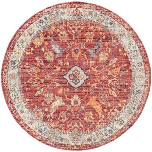 Safavieh Bristol 7-ft x 7-ft Rose and Light Grey Area Rug