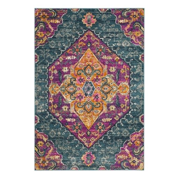 Safavieh Madison 120-in x 96-in Blue and Fuchsia Area Rug