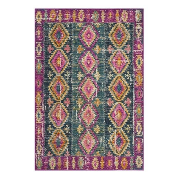 Safavieh Madison Fuchsia and Blue Area Rug,MAD129F-8