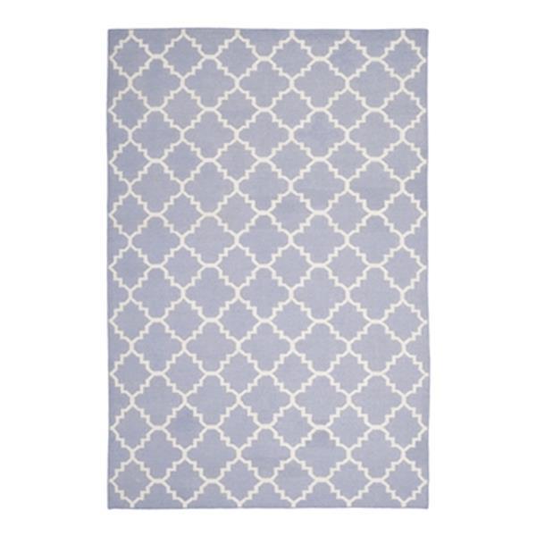 Safavieh Dhurries Flat Weave Purple and Ivory Area Rug,DHU55