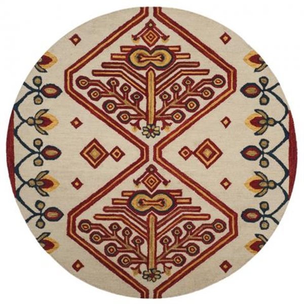 Safavieh Aspen Geometric and Floral Ivory and Multicolor Han