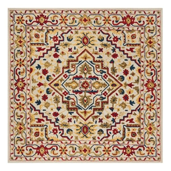 Safavieh Aspen 84-in X 84-in Ivory and Multicolor Hand Tufted Area Rug