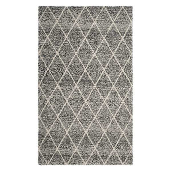 Safavieh Natura 5-ft x 8-ft Ivory and Black Hand Tufted Area Rug