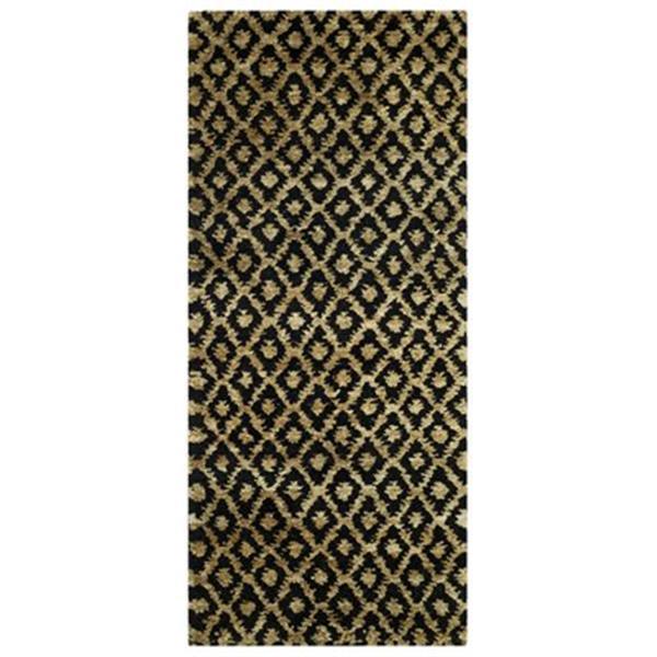 Safavieh Bohemian Geometric Indoor Area Rug 3-ft x 5-ft Runner Black/Gold